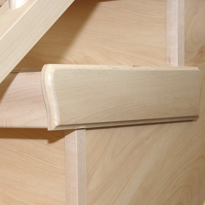 Details seitliche Holzabdeckung