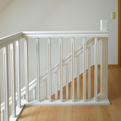 Treppenbrüstung weiß