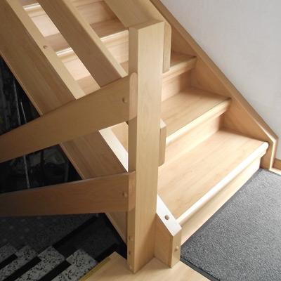 Treppengeländer flach